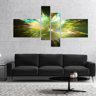 Designart 'Fractal Explosion of Paint Drops' Abstract Canvas Art Print