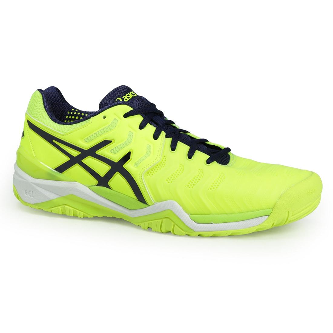 Asics Gel Resolution 7 Men's Tennis Shoe (10), Blue (Synt...