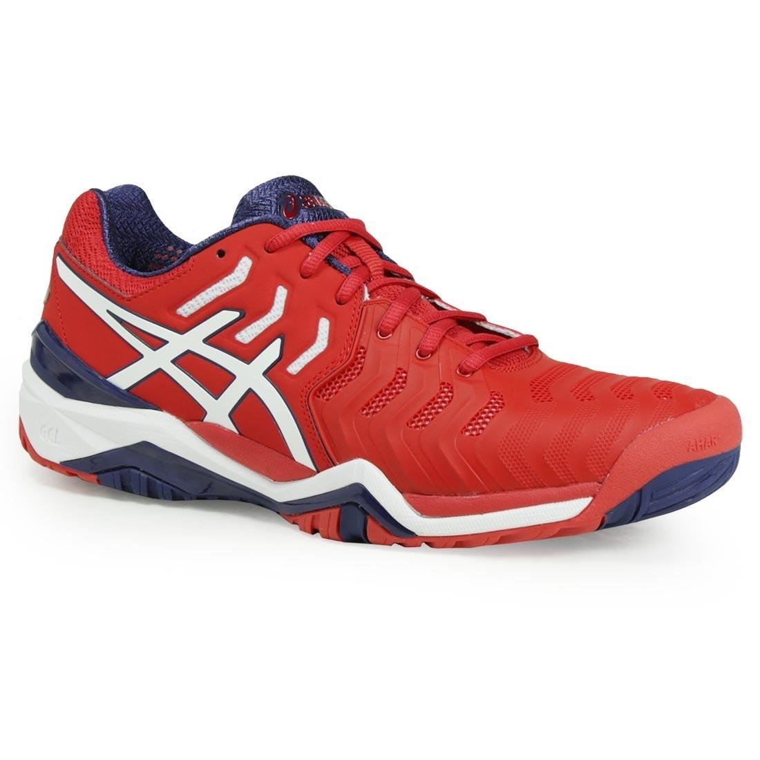 Asics Gel Resolution 7 Men's Tennis Shoe (12), Blue (Synt...