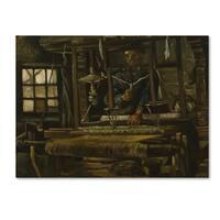 Van Gogh 'A Weavers Cottage' Canvas Art