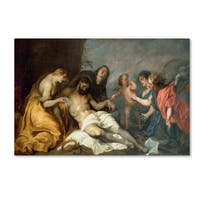 Anthony van Dyck 'Lamentation Over The Dead Christ' Canvas Art