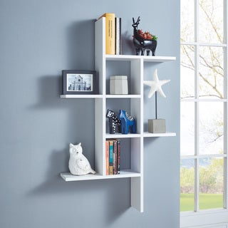 Link to Danya B. Cantilever Wall Shelf - White Similar Items in Accent Pieces