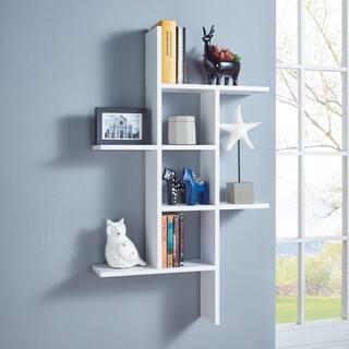 Danya B Cantilever Wall Shelf White