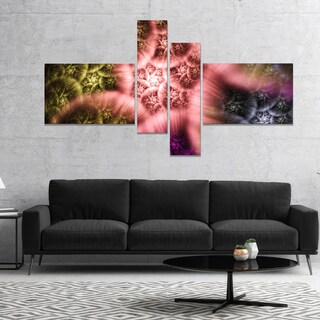 Designart 'Biblical Sky with Multi Color Clouds' Abstract Wall Art Canvas