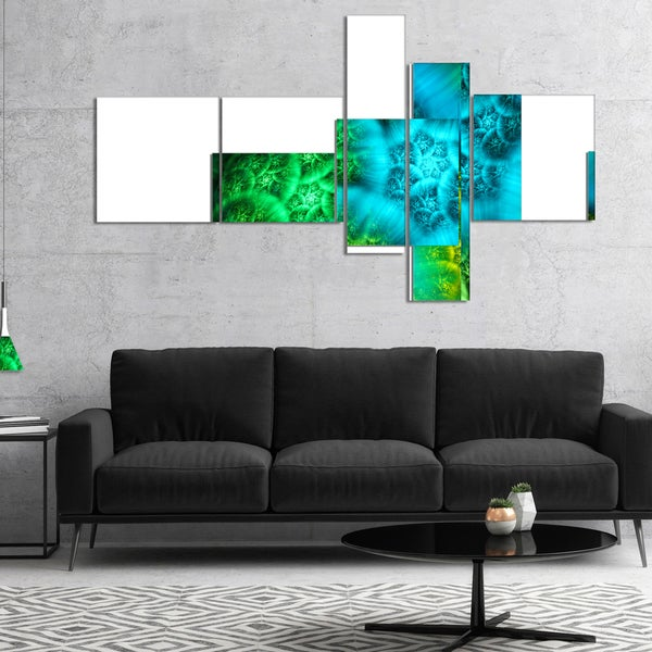 Designart 'Biblical Sky with Green Clouds' Abstract Wall Art Canvas