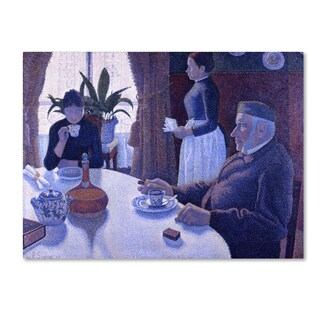 Paul Signac 'Breakfast' Canvas Art