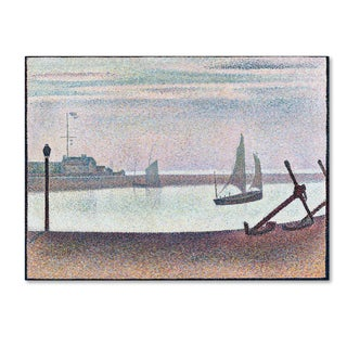 Georges Seurat 'The Channel At Gravelines Evening' Canvas Art