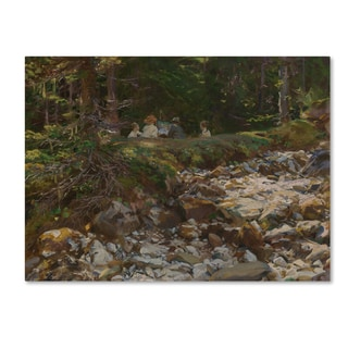 John Singer Sargent 'The Master And His Pupils' Canvas Art