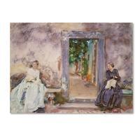 John Singer Sargent 'The Garden Wall' Canvas Art
