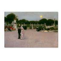 John Singer Sargent 'In The Luxembourg Gardens' Canvas Art
