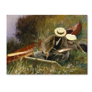 John Singer Sargent 'An Outdoor Study' Canvas Art