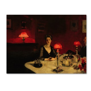 John Singer Sargent 'A Dinner Table At Night' Canvas Art