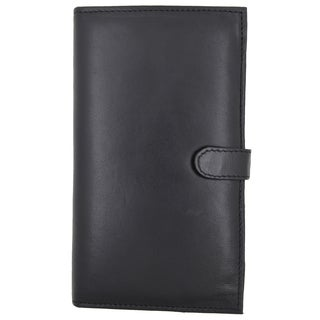 Swiss Marshal RFID Blocking Soft Premium Leather Bifold Credit Card Holder with Button Closure