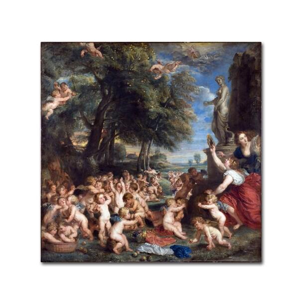 Peter Paul Rubens 'Worship Of Venus' Canvas Art