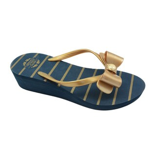 Nikky Janis Navy Flip Flops