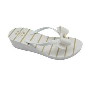 Nikky Janis White Flip Flops