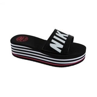 Nikky Mave Black Flip Flops