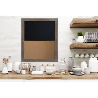 Gray Oak Framed Chalkboard Corkboard Combo Ready to Hang.