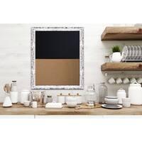 White Barnwood Framed Chalkboard Corkboard Combo Ready to Hang.