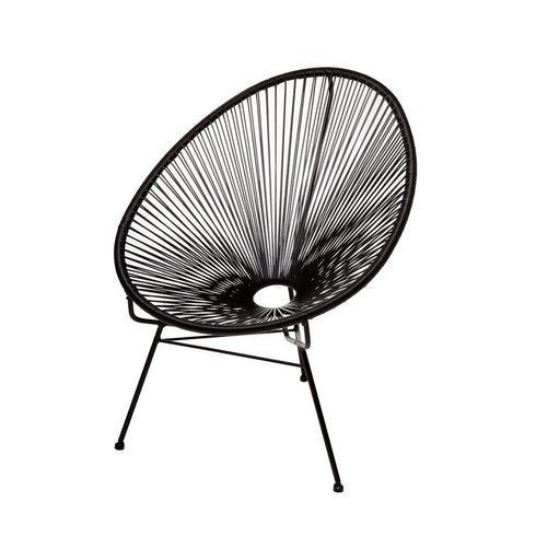 Shop Acapulco Black Metal Papasan Chair - Free Shipping Today ...