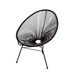 Acapulco Black Metal Papasan Chair