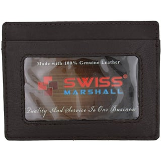 Swiss Marshal RFID Blocking Front Pocket Thin Card Holder Wellet
