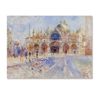 Renoir 'The Piazza San Marco Venice' Canvas Art