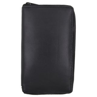 Swiss Marshal RFID Premium Soft Leather Zipper Wallet
