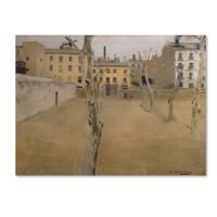 Ramon Casas 'Courtyard Of Barcelona Prison' Canvas Art