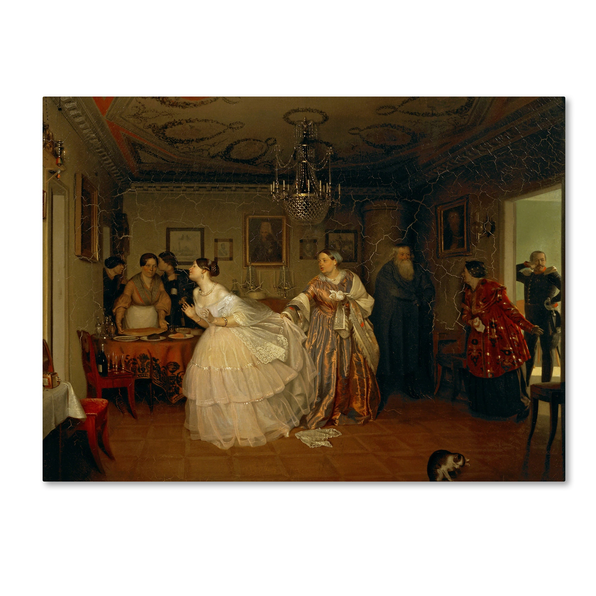 """Fine Art Print NEW 16/"""" x 20/"""" The Major Goes Courting Pavel Fedotov"""