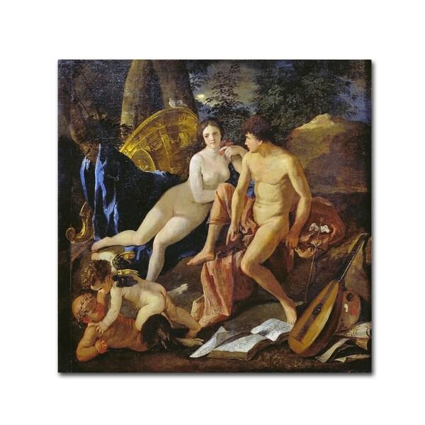 Nicolas Poussin 'Venus And Mercury' Canvas Art