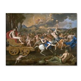 Nicolas Poussin 'The Triumph Of Bacchus' Canvas Art
