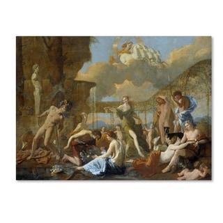Nicolas Poussin 'The Empire Of Flora' Canvas Art