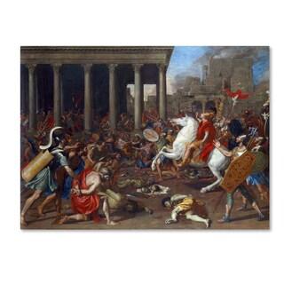 Nicolas Poussin 'The Conquest' Canvas Art