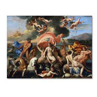Nicolas Poussin 'The Birth Of Venus' Canvas Art