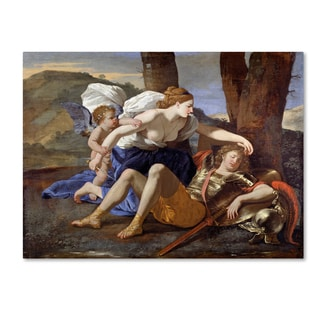 Nicolas Poussin 'Rinaldo And Armida' Canvas Art
