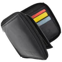 Swiss Marshal RFID Blocking Soft Premium Leather Zip Around ID Bifold Wallet