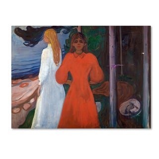 Edvard Munch 'Red And White' Canvas Art