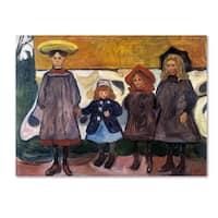 Edvard Munch 'Four Girls' Canvas Art