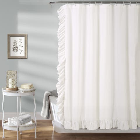 The Gray Barn Dogwood White Shower Curtain