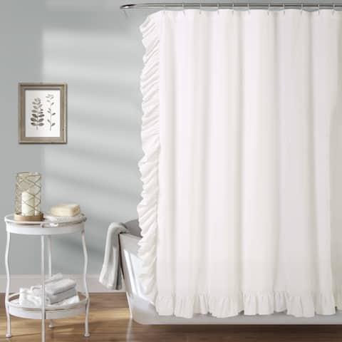 The Gray Barn Dogwood White Shower Curtain