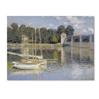 Monet 'The Argenteuil Bridge' Canvas Art