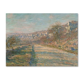 Monet 'Road Of La Rocheguyon' Canvas Art