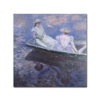 Monet 'On The Boat' Canvas Art