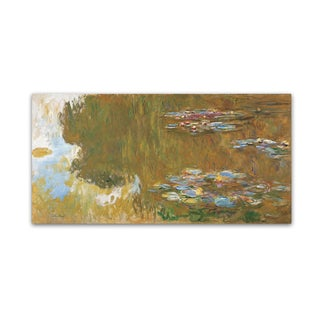 Monet 'The Water Lily Pond' Canvas Art
