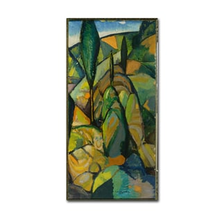Charles Walther 'Abstract Landscape' Canvas Art