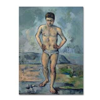 Cezanne 'The Bather' Canvas Art