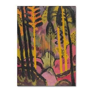 Johann Walters 'Trunks And Foliage' Canvas Art
