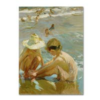 Joaquin Sorolla 'The Wounded Foot' Canvas Art