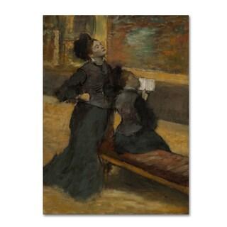Degas 'Visit To A Museum' Canvas Art